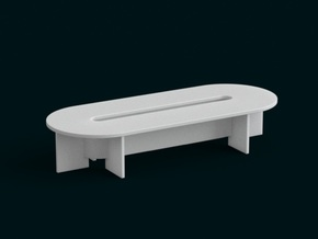 1-10 Scale Model - Table 05 in White Natural Versatile Plastic