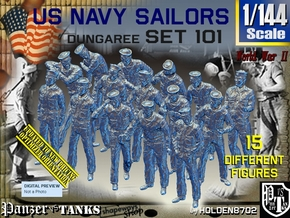 1/144 USN Dungaree Set 101 in Smooth Fine Detail Plastic