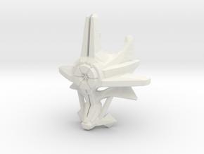 Mask Of Ultimate Power in White Premium Versatile Plastic
