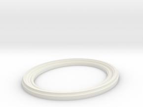 Oval Frame in White Natural Versatile Plastic