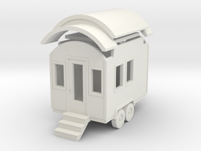Tiny House #1 - 1:87 Scale Miniature in White Strong & Flexible
