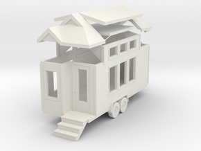 Tiny House #51 - 1:87 Scale Miniature in White Natural Versatile Plastic