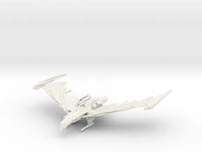 Romulan Winged Defender Class  IIIV WarBird in White Natural Versatile Plastic