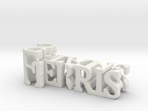 3dWordFlip: Ferris/State in White Natural Versatile Plastic
