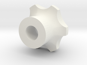 M8 - Knob High in White Natural Versatile Plastic
