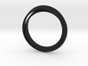 Möbius bracelet in Black Premium Versatile Plastic: Extra Small