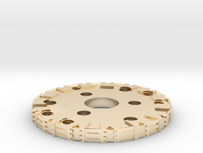 Detailed Chassis Disk in 14k Gold Plated Brass