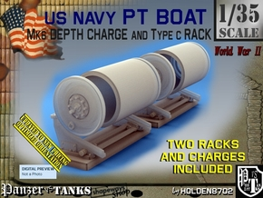 1/35 PT Boat Depth Charge w/ Rack Set001 in Smooth Fine Detail Plastic