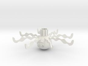 Octopus drain in White Natural Versatile Plastic: Extra Small