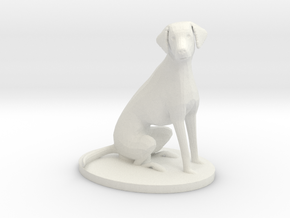 1/18 Sitting Dalmatian Dog for Auto Diorama in White Natural Versatile Plastic
