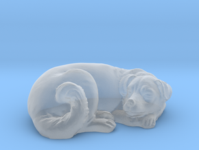 1/24 Dog Sleeping for Diorama in Smooth Fine Detail Plastic