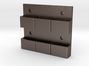 Wall-Mounted MOLLE/PALS Mounting System (3 x 2) in Polished Bronzed Silver Steel