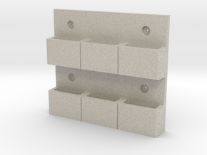 Wall-Mounted MOLLE/PALS Mounting System (3 x 2) in Natural Sandstone
