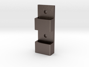 Wall-Mounted MOLLE/PALS Mounting System (1 x 2) in Polished Bronzed Silver Steel