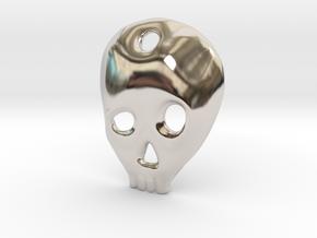 SKULL charm or pendant in Platinum