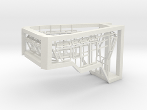 Window Frames 1/75 fit Harbor Tug Bridge in White Natural Versatile Plastic