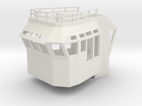 Basic Bridge fits 1/50 fits Harbor Tug in White Natural Versatile Plastic