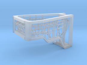 Window Frames 1/50 fit Harbor Tug Bridge in Smooth Fine Detail Plastic