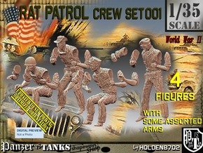 1/35 Rat Patrol Set001 in Smooth Fine Detail Plastic