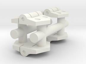 1/16 Stug III hatch hinges in White Natural Versatile Plastic