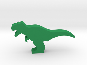 Dino Meeple, T-Rex in Green Processed Versatile Plastic