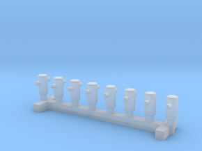 N Scale 8x Mooring Bollard 1 in Frosted Ultra Detail