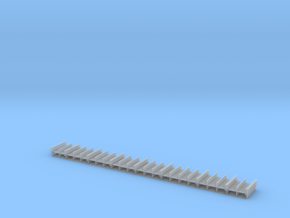 HO Railings 30x276mm in Smooth Fine Detail Plastic