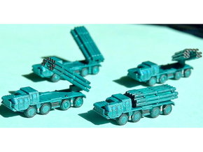 9A52 Smerch MLRS Battery 1/300 in Frosted Ultra Detail