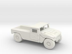 1/87 Scale HMMWVC in White Natural Versatile Plastic