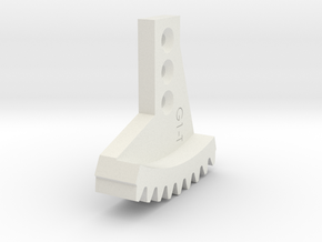 Metal/Plastic elevation gear rock for 16017 in White Natural Versatile Plastic