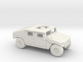 1/87 Scale HMMWV in White Natural Versatile Plastic