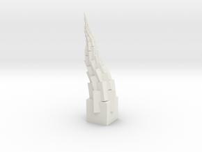 LeaningCubeTower in White Natural Versatile Plastic: Medium