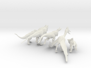 Mini Prehistoric Collection 4 in White Strong & Flexible: Small