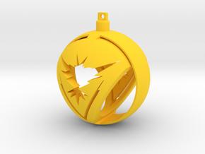 Team Instinct Christmas Ornament Ball in Yellow Processed Versatile Plastic