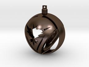 Team Instinct Christmas Ornament Ball in Polished Bronze Steel