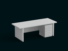 1:10 Scale Model - Table 07 in White Strong & Flexible