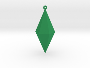 Plumbob Ornament in Green Processed Versatile Plastic