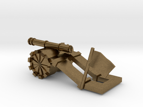 Tank paperweight in Natural Bronze: Small