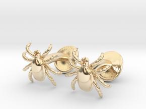Tick Cufflinks - Nature Jewelry in 14K Yellow Gold