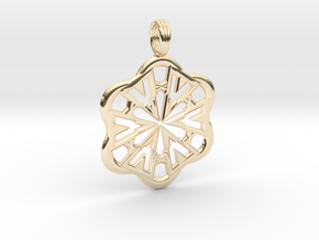 FLOWER POWER in 14k Gold Plated Brass