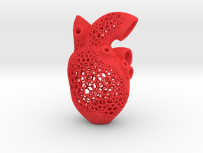 Anatomic Heart Candle Holder in Red Processed Versatile Plastic