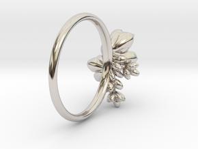 Botanical Cluster Ring in Platinum: 5 / 49
