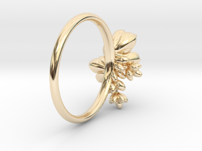 Botanical Cluster Ring in 14k Gold Plated Brass: 5 / 49