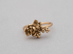 Botanical Cluster Ring in Raw Bronze: 7 / 54