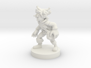 Gnome Steampunk Rogue in White Premium Versatile Plastic