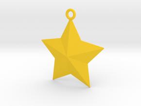 Arcade Star Ornament in Yellow Processed Versatile Plastic