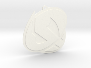 Team Skull Ornament in White Processed Versatile Plastic