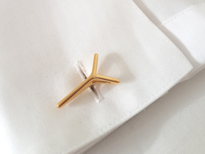 YOUNIVERSAL ONE Cufflinks. Pure Elegance for Him in 18K Gold Plated