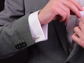 YOUNIVERSAL ONE Cufflinks. Pure Elegance for Him in Polished Silver