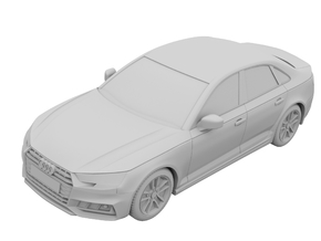 1:64 - Audi S4 2017 in Black Strong & Flexible